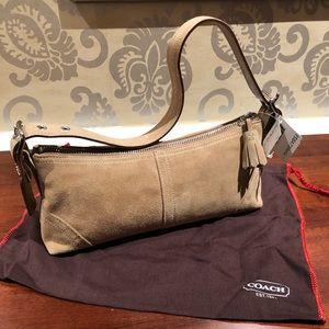Coach mini suede bag